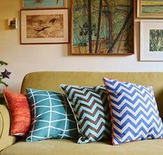 zig zag cushions