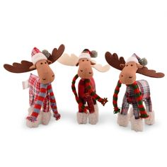 Fluffy Christmas Fabric Reindeer Ornaments For The Home Three Designs Available £5.99