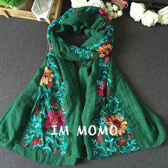 Купить товарDouble2 японский этническом стиле вышитые одеяло шарф и платок женщин модный дизайн художественный стиль бандана и пашмины леди в категории Шарфына AliExpress.                                                                  Double2 японский этническ