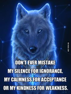 One smart wolf - not that funny nor visually awesome, but this one is a great wisdom.