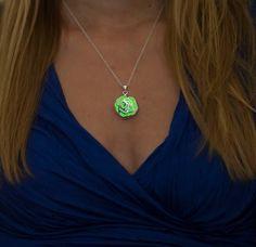 Green Glow in the Dark Necklace - Green Rose Glow Necklace - Glow Jewelry by EpicGlows #love #beautiful #glow #necklace #jewelry