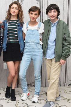 Natalia Dyer, Millie Bobby Brown and Finn Wolfhard