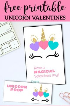 Free Printable Unicorn Valentine Cards – Paper Trail Design – The Best One Valentine's Day Unicorn Valentine Cards, Printable Valentines Day Cards, Valentines For Kids, Valentine Day Crafts, Printable Cards, Diy Birthday Banner, Birthday Cards, Unicorn Printables, Valentine's Cards For Kids