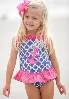 1f58d802dcb Anchors Away Bathing Suit My Little Girl, Little Girl Bikini, Little Ones,  Cute