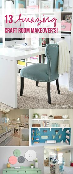 13 Amazing Craft Room Makeover's! - Happily Ever After, Etc.
