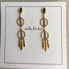 "I just added this to my closet on Poshmark: Terra Earrings. Price: $32 Size: 2 1/4"" drop"