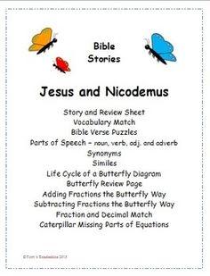 Nicodemus Seeks Jesus Coloring Page Maze  Bible Jesus and His
