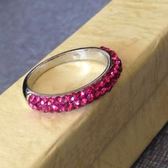 """Spotted while shopping on Poshmark: """"🔱New Pink Bling Ring""""! #poshmark #fashion #shopping #style #Jewelry"""
