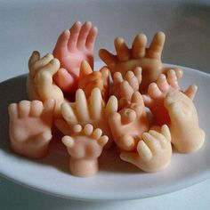 Hand Soaps. Yes, little hands that are soaps. Very creepy, but perfect for Halloween!