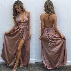 sexy prom dresses,2018 prom dresses,simple halter prom dresses backless Evening Dress 7014