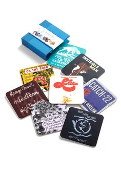 Oooo... book cover coasters