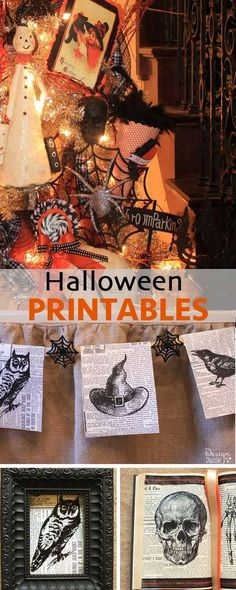 DIY Vintage Halloween Banner {Printable Halloween banner - vintage halloween decorating ideas
