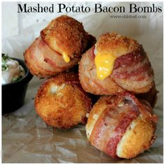 Mashed Potato Bacon Bombs...these are the BEST Football Party Food Ideas!