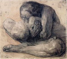 Käthe Kollwitzケーテ・コルヴィッツ()「Frau mit toten Kind(死んだ子を抱く女)」(1903)