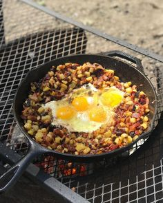 Campfire breakfast! Sprinkle with Great American Steak Seasoning and this will taste awesome!