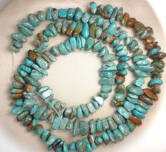 "10 strand lot Turquoise Loose Nugget Beads 8mm to 14mm Craft jewelry  16"" #  957 #Erthart #Southwest"