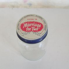 Vintage Marriage for Two NBC radio ad glass jar by trendybindi, $20.00  This would be really cute to have at a bridal shower or wedding reception and have the guests fill it with tips for a happy marriage!
