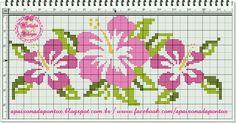 Flower x-stitch