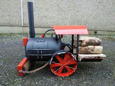 Mini Steam Engine Road Roller Wood Burner, By Barry Wood @ https://m.facebook.com/LogWoodBurners