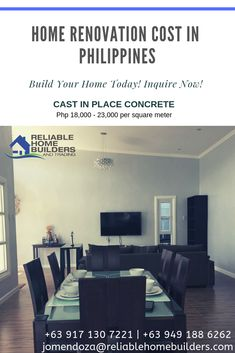 House Construction Cost in Philippines, Estimated and Actual House Construction Cost, Detailed cost for House Construction in Philippines, Structural works and to Finishing works, Contractor in Philippines. Home Renovation Costs, Philippine Houses, Construction Cost, Dormitory, Build Your Dream Home, Modern House Design, Home Builders, Home Projects, Philippines