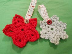 I have had so much fun making these little crochet star and snowflake decorations over the past few weeks. They are going to be little pr...