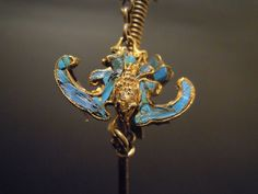 #Bronze #hatpin for hair with a pendant #bat  More info: Website: www.arte-orientale.com Email: arteorientale.bo@gmail.com