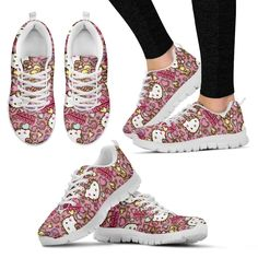 Sneakers happen to be a part of the world of fashion for more than you may think. Modern day fashion sneakers bear little similarity to their earlier forerunners but their popularity is still undiminished. Womens sneakers In Style. Floral Sneakers, Pink Sneakers, Sneakers Fashion, Ladies Sneakers, Sneakers Design, Ladies Shoes, Shih Tzu, Sport, Athletic Women