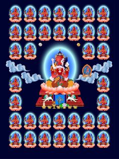 Lineage lamas and root lama in Vajra Yogini's tantra. Tsem Rinpoche