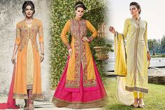"""Different #Indian Dresses #Styles in the colour """"Yellow"""" for #Spring #fashion"""
