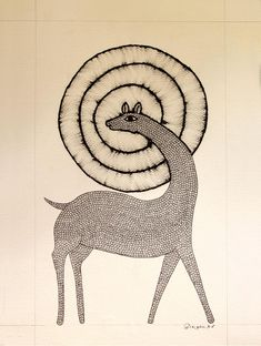 Gond Art from Madhya Pradesh by The India Craft House Pichwai Paintings, Indian Art Paintings, Puppetry Arts, Gond Painting, Different Types Of Painting, India Crafts, Craft House, Madhubani Art, Indian Folk Art