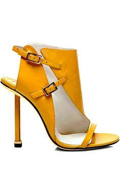 gele schoen