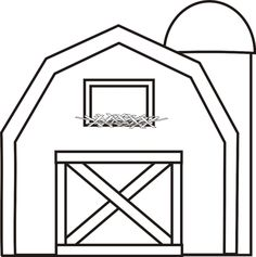 barn with silo coloring page greatest coloring book