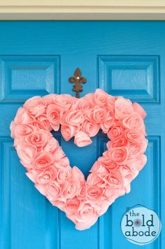 Heart Shaped Coffee Filter Wreath from The Bold Abode