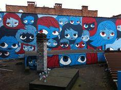 """Fresque réalisée avec la collaboration  de """"une ville en couleur asbl"""""""
