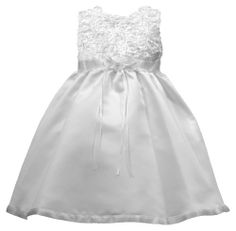 Lauren Madison Baby-Girls Newborn Christening Baptism Special Occasion Satin Dress Gown Outfit with Floral Soutache Top., White, 24 Months Lauren Madison,http://www.amazon.com/dp/B00HIKUM3U/ref=cm_sw_r_pi_dp_4Qpntb0T982YGTX8