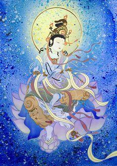 普賢菩薩 - 現代美術絵画・草場一壽 陶彩画の世界