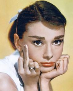 """""""Flipping off and givin' the death stare: that's what Audrey DOES!"""""""