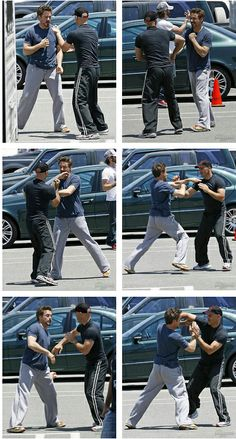 Robert Downey Jr.: wing chun sparring with Sifu Eric Oram.