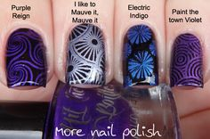 Hit the Bottle stamping polishes and Born Pretty Plates L001-L008 Review ~ More Nail Polish