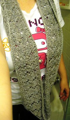 Storied Yarns: Infinitely Simple Lace Infinity Scarf: Free Knitting Pattern