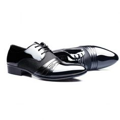 Stylish Splicing and Pointed Toe Design Men's Formal Shoes (BLACK,43) in Formal Shoes | DressLily.com