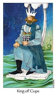 August 12 Tarot Card: King of Cups (Dreaming Way deck) Don't let your emotions control you. Feelings are not permanent ~ they come and go, and it's up to you to handle them with balance, maturity, and integrity