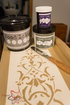 Stenciled Dresser ~ Wood Icing- Texture Paste