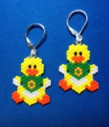 Oregon Ducks Beaded Earrings