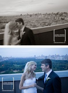 Wedding held at the New York Athletic Club...terrace view here of Central Park.