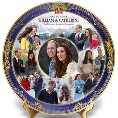 Amazon.com - 2014 Royal Tour Commemorative Collector Plate Featuring Prince William And Kate by The Bradford Exchange -
