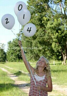 Except photoshop the numbers in. With rocks instead of balloons or whatever