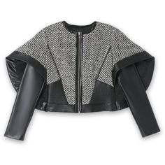 bebe Star Cape Sleeve Jacket found on Polyvore featuring outerwear, jackets, cape coat, bebe, bebe jacket, star jacket and cape jacket