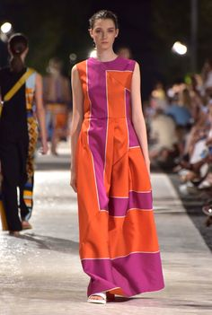 Orange and purple wide striped, quilted midi skirt Wide Stripes, Orange And Purple, Midi Skirt, Skirts, Collection, Dresses, Fashion, Haute Couture, Moda