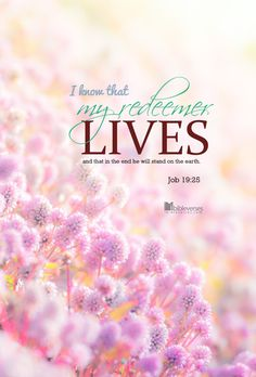 i know that my redeemer lives job 19 Inspirational Bible Quotes, Biblical Quotes, Bible Verses Quotes, Bible Scriptures, Faith Quotes, Motivational, Encouraging Poems, My Redeemer Lives, Resurrection Day